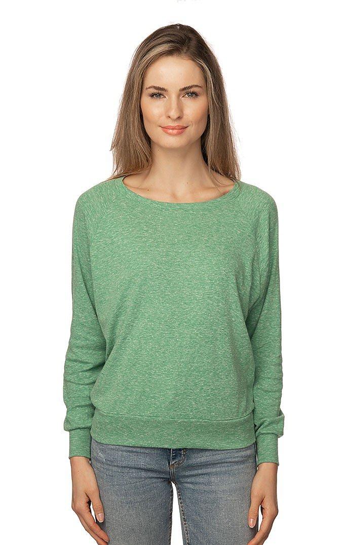 Women's Triblend Long Sleeve Raglan Pullover TRI KELLY