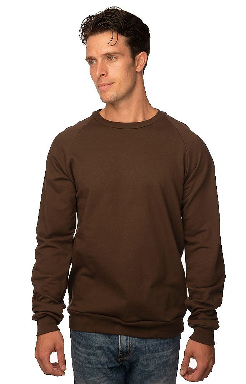Unisex Organic Raglan Crew Neck Sweatshirt BARK