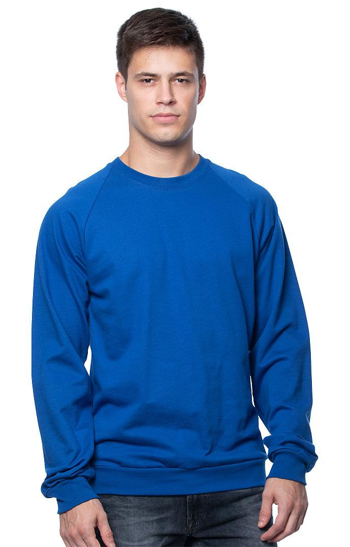 Unisex Organic Raglan Crew Neck Sweatshirt NAUTICAL BLUE