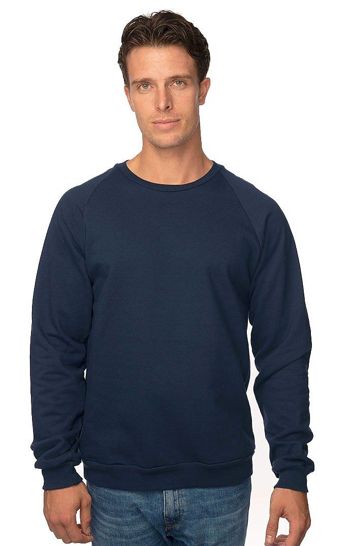 Unisex Organic Raglan Crew Neck Sweatshirt OCEAN