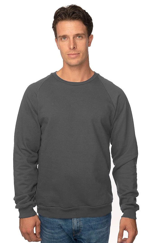 Unisex Organic Raglan Crew Neck Sweatshirt SLATE