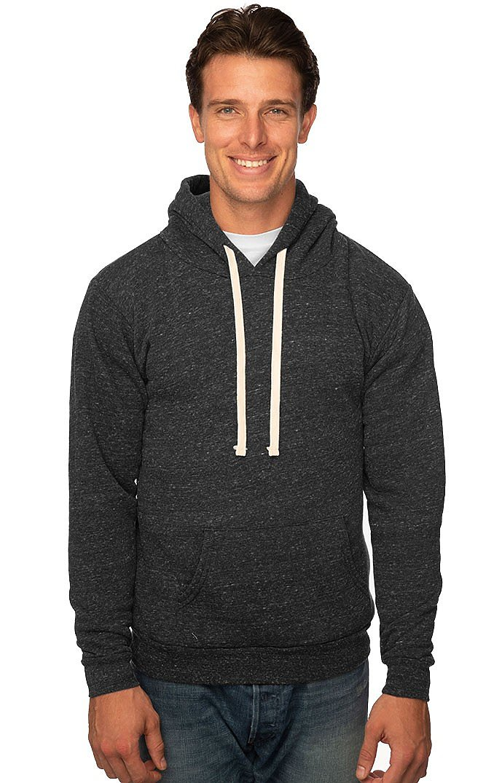Unisex Triblend Fleece Pullover Hoodie TRI ONYX