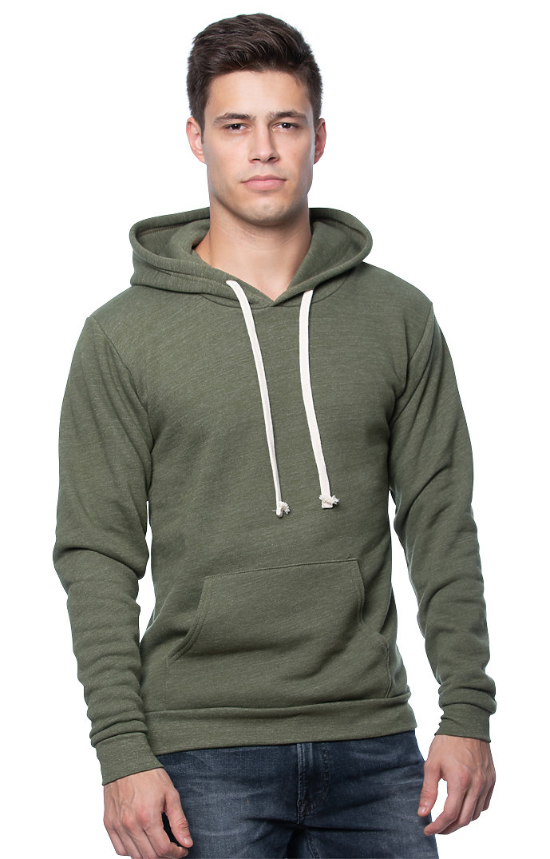 Unisex Triblend Fleece Pullover Hoodie TRI ARMY