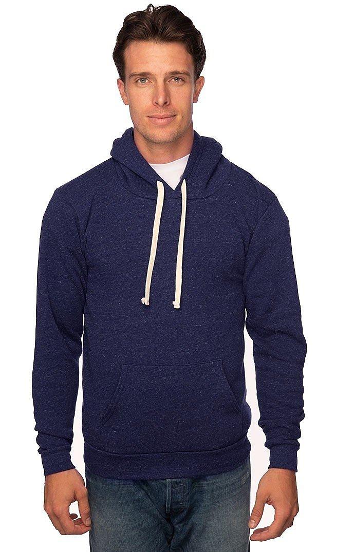 Unisex Triblend Fleece Pullover Hoodie TRI DENIM NAVY