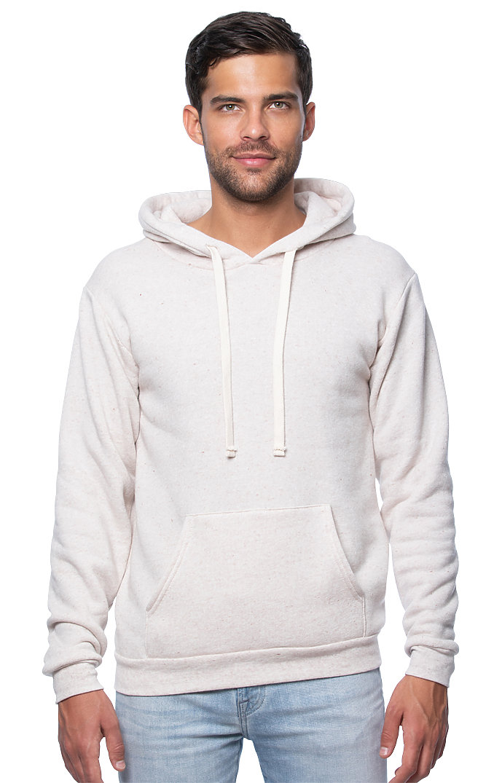 Unisex Triblend Fleece Pullover Hoodie TRI OATMEAL