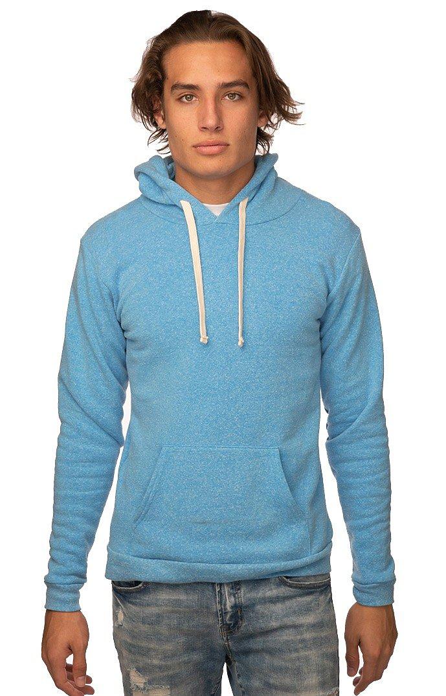 Unisex Triblend Fleece Pullover Hoodie TRI POOL