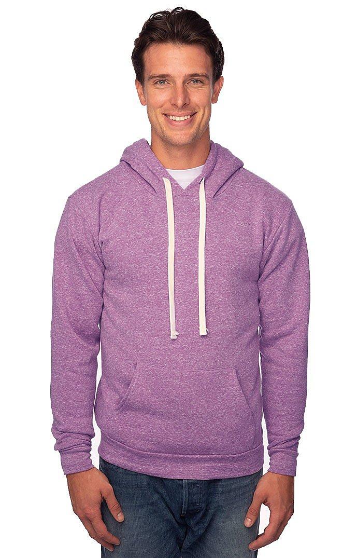 Unisex Triblend Fleece Pullover Hoodie TRI PURPLE