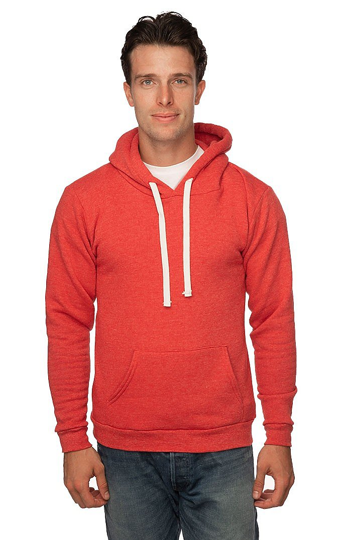 Unisex Triblend Fleece Pullover Hoodie TRI RED