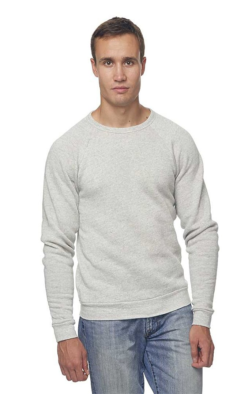 Unisex Triblend Fleece Raglan Crew Sweatshirt TRI ASH