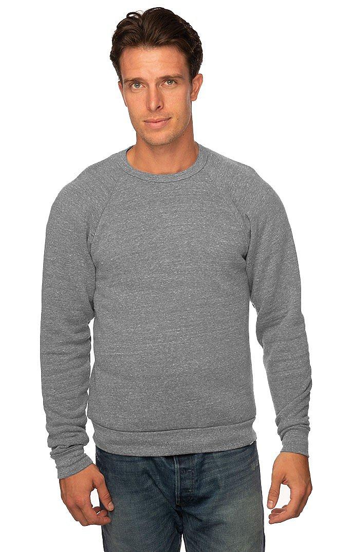 Unisex Triblend Fleece Raglan Crew Sweatshirt TRI VINTAGE GREY