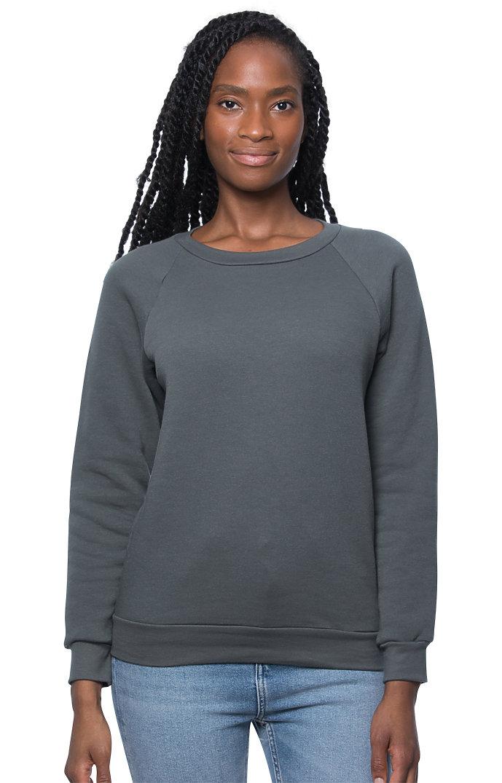 Women's Fashion Fleece Raglan Pullover ASPHALT