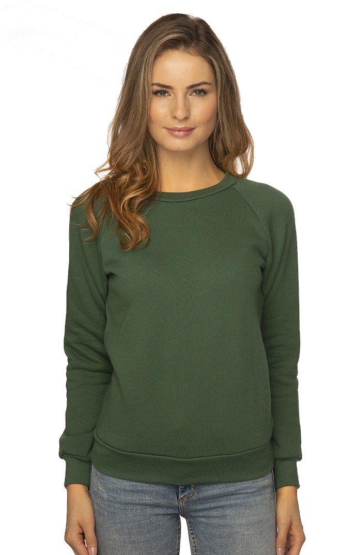 Women's Fashion Fleece Raglan Pullover 50/50 PINE