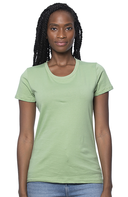 greenT Womens Organic Ringspun Cotton Wants Fitted T Shirt