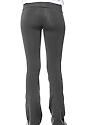 Women's Cotton Spandex Yoga Pant ASPHALT Back