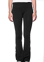 Women's Cotton Spandex Yoga Pant BLACK Front