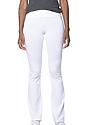 Women's Cotton Spandex Yoga Pant WHITE Side