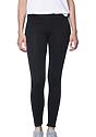 Women's Cotton Spandex Leggings BLACK Front
