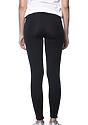 Women's Cotton Spandex Leggings BLACK Back2