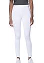 Women's Cotton Spandex Leggings WHITE Front