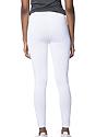 Women's Cotton Spandex Leggings WHITE Back