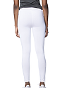 Women's Cotton Spandex Leggings WHITE Back2