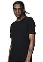 Unisex Short Sleeve Heavyweight Tee BLACK Back