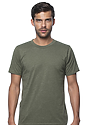 Unisex 50/50 Blend Tee HEATHER ARMY Front