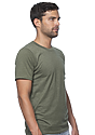 Unisex 50/50 Blend Tee HEATHER ARMY Side
