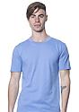 Unisex 50/50 Blend Tee HEATHER LIGHT BLUE Front