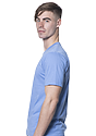 Unisex 50/50 Blend Tee HEATHER LIGHT BLUE Side