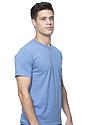 Unisex 50/50 Blend Tee HEATHER SEA BLUE Side