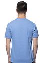Unisex 50/50 Blend Tee HEATHER SEA BLUE Back