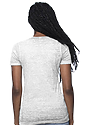Women's Burnout Wash V-Neck WHITE 3