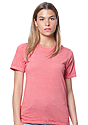 Unisex Burnout Wash Tee RED Front