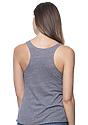 Women's Triblend Raw Edge Tank Top  Back