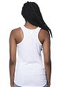 Women's Triblend Tank Top TRI WHITE Back