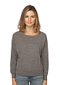 Women's Triblend Long Sleeve Raglan Pullover  Front