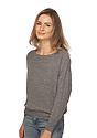 Women's Triblend Long Sleeve Raglan Pullover  Side