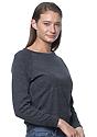 Women's Triblend Long Sleeve Raglan Pullover TRI ONYX Side