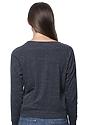 Women's Triblend Long Sleeve Raglan Pullover TRI ONYX Back