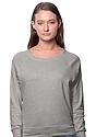 Women's Triblend Long Sleeve Raglan Pullover TRI ASH Front