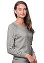 Women's Triblend Long Sleeve Raglan Pullover TRI ASH Side