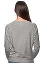 Women's Triblend Long Sleeve Raglan Pullover TRI ASH Back