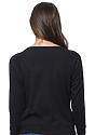 Women's Triblend Long Sleeve Raglan Pullover TRI BLACK Back