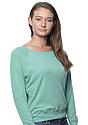 Women's Triblend Long Sleeve Raglan Pullover TRI KELLY Side
