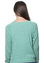 Women's Triblend Long Sleeve Raglan Pullover TRI KELLY Back