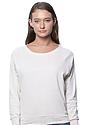 Women's Triblend Long Sleeve Raglan Pullover TRI OATMEAL Front