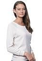 Women's Triblend Long Sleeve Raglan Pullover TRI OATMEAL Side