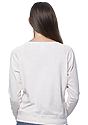 Women's Triblend Long Sleeve Raglan Pullover TRI OATMEAL Back