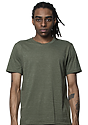 Unisex Triblend Short Sleeve Tee TRI ARMY Front